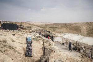 Khirbet al-Halawa, Territori Occupati Palestini, beduini senza infrastrutture idriche ©Gianluca Cecere