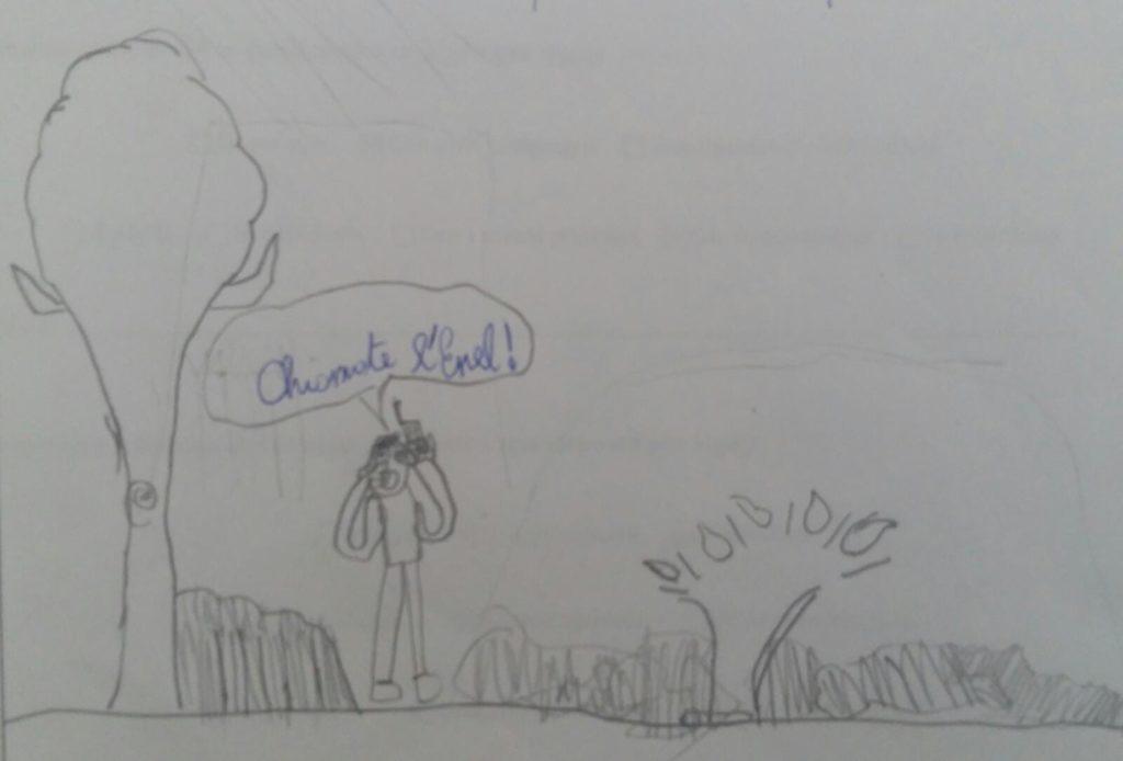 IL problema degli allagamenti nel disegno di un bambino