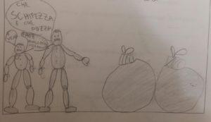 Il problema della spazzatura disegnato da un bambino
