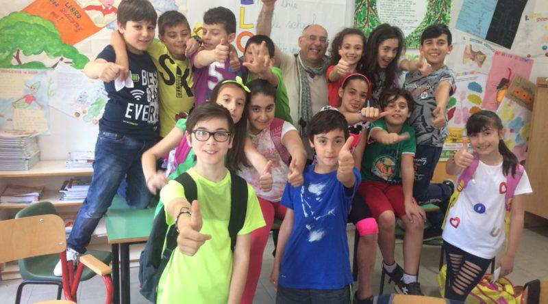 La classe di Sant'Angelo in Theodice saluta i lettori di Cassinogreen