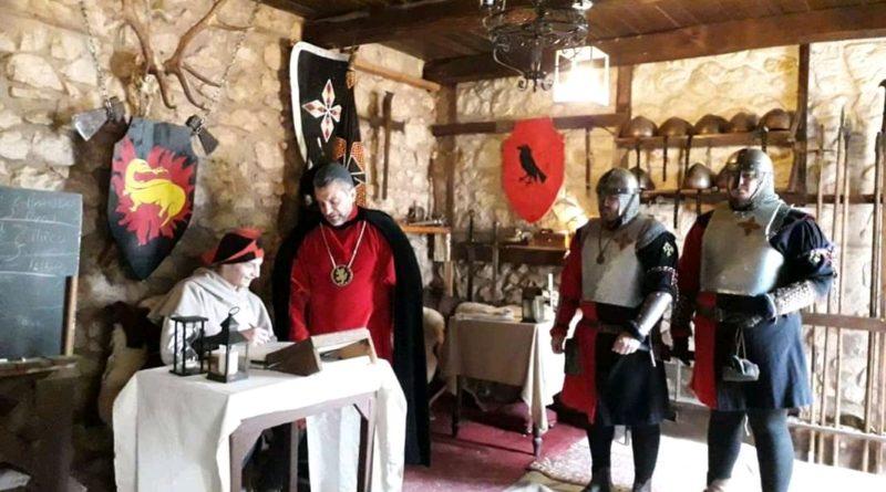 """Un momento della rievocazione storica con """"I Corvi di Giano"""" a Cassino"""
