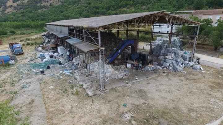 L'ex impianto di trattamento dei rifiuti a Sant'Elia Fiumerapido (Fr)