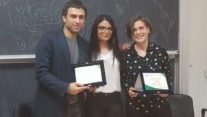 """Raffaele Guida e Raffaela Silvestri sono rispettivamente il primo e secondo classificato del premio """"Poesie e racconti per l'ambiente"""". Al centro Anastasia Verrelli di Cassinogreen"""