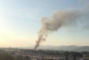 L'incendio alla Mecoris di Frosinone