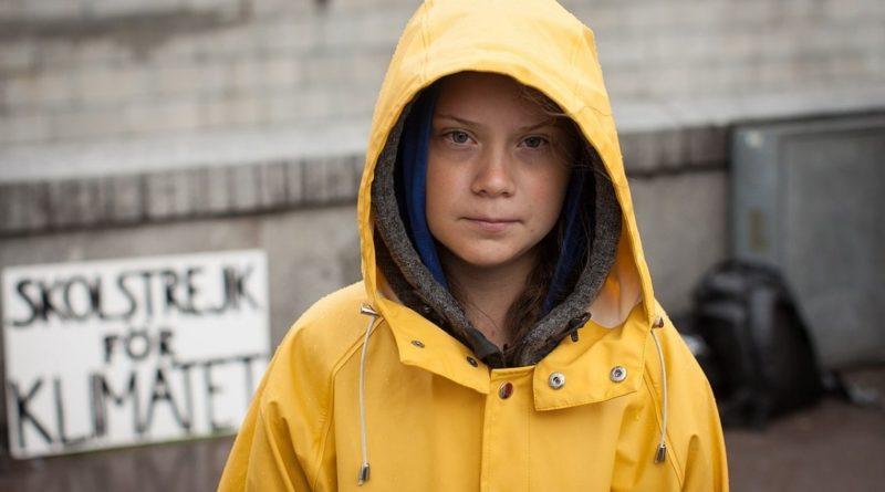 La giovane attivista svedese Greta Thunberg