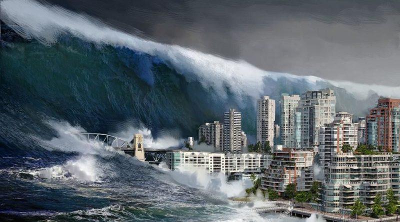 Uno tsunami.