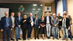 Il gruppo dei relatori al Forum sull'economia circolare organizzato da Uniclam a Cassino