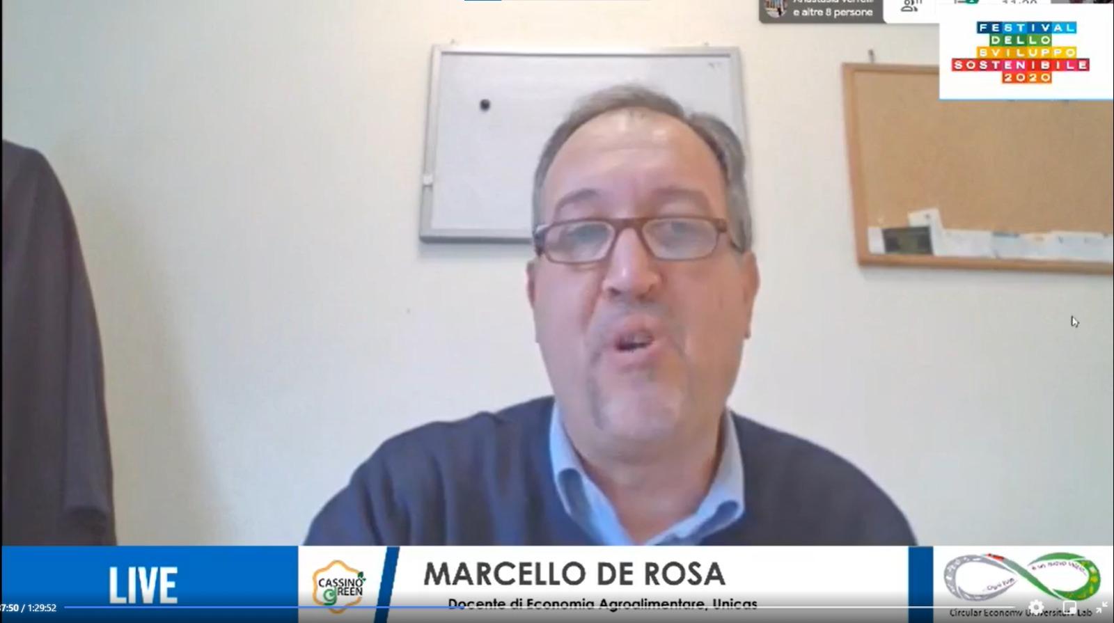 Marcello De Rosa, professore di Economia ed Estimo Rurale presso il Dipartimento di Economia e Giurisprudenza dell'Università di Cassino