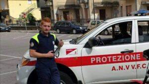 Matteo Carcione, presidente della sezione ANVVFC di Piedimonte San Germano, impegnata nell'addestramento del nucleo cinofilo della Protezione Civile