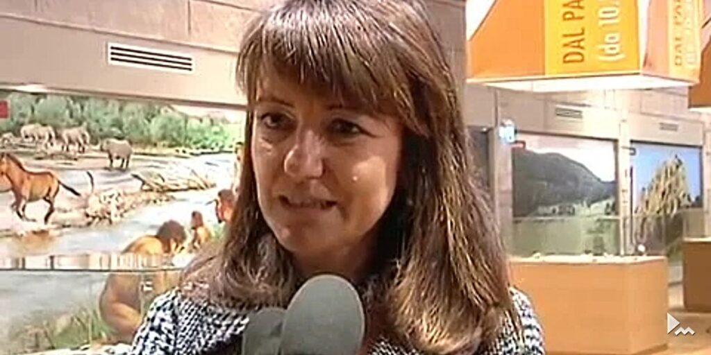Primo piano di Enza Zullo, direttrice del museo Paleolitico di Isernia