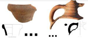Frammenti di anfore ritrovate durante gli scavi a MInturno