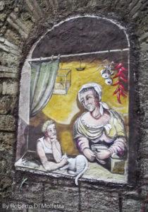 Un murale di Alberto Spaziani nel centro di Frosinone