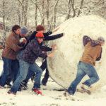 Una palla di neve gigante