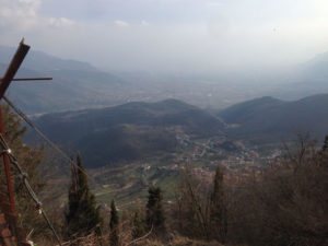 Il panorama che si osserva da Monte Cifalco