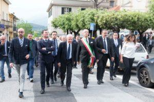 Le autorità all'inaugurazione del castello di Mignano Montelungo | Foto di Matteo Ricci