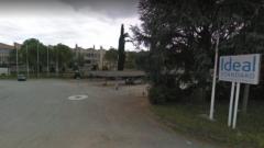L'ingresso dell'Ideal Standard, ora Saxa Gres a Roccasecca (Fr)