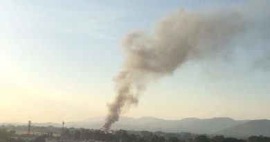 L'incendio alla Mecoris di Frosinone