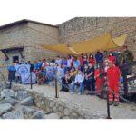 Il gruppo dell'Università di Cassino al termine della passeggiata di Climbing for climate